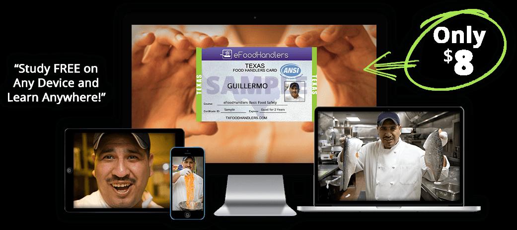 TEXAS Food Handlers Certificate | eFoodhandlers® | $8